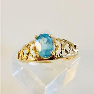 10k Blue Topaz ring